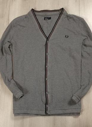 F7 пуловер fred perry фред перри серый джемпер кофта свитер