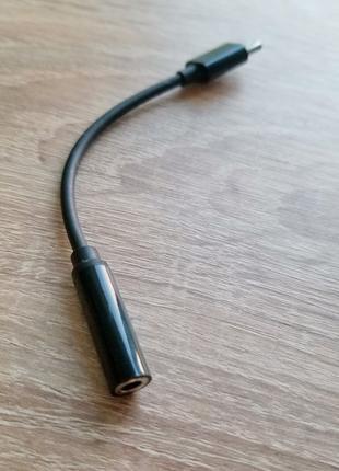 Переходник USB Type-C на Мini jack 3.5 мм.