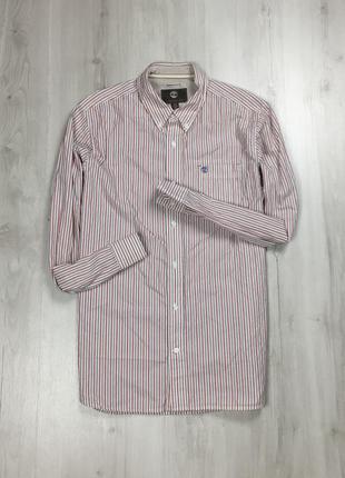 Z7 рубашка timberland полосатая мужская рубашка белая красная ...