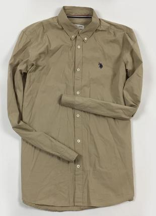 Z7 рубашка us polo assn коричневая