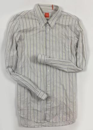 Z7 рубашка hugo boss хуго хьюго босс бос полосатая в полоску с...