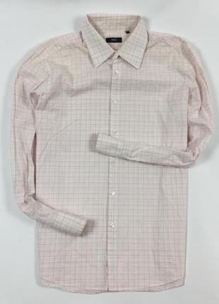 Z7 рубашка hugo boss хуго босс хьюго бос клетчатая в клетку
