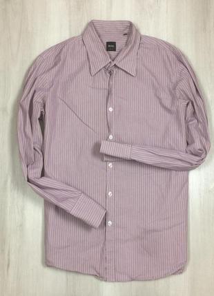 Z7 полосатая в полоску хуго босс приталенная рубашка hugo boss...