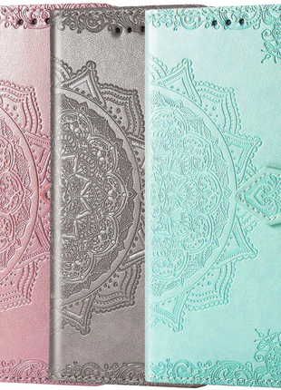 TPU+Textile чехол Mandala с 3D тиснением