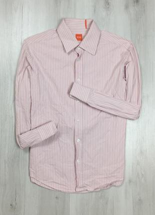 Z7 приталенная рубашка hugo boss хуго хьюго босс бос полосатая...