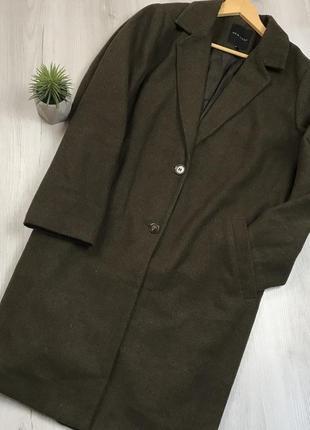 N8 пальто зеленое женское пальто длинное осеннее болотное темн...