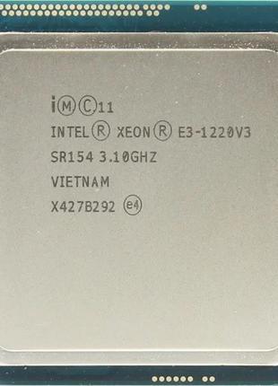 Процессор Intel Xeon E3-1220 V3, 1225 V3, сокет 1150
