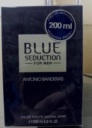 Antonio banderas blue sedaction,мужская туалетная вода 200 мл
