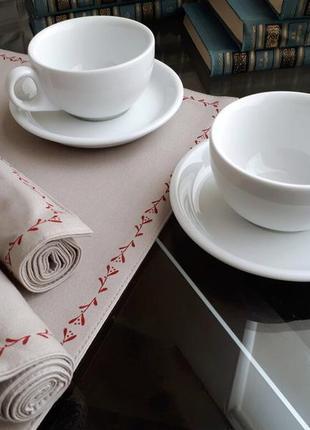 Фарфоровые чашки с блюдцем lubiana ameryka - 2шт (набор) польша