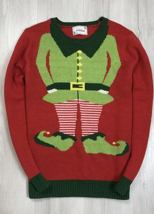 F7 свитер новогодний рождественский праздничный have a jolly к...