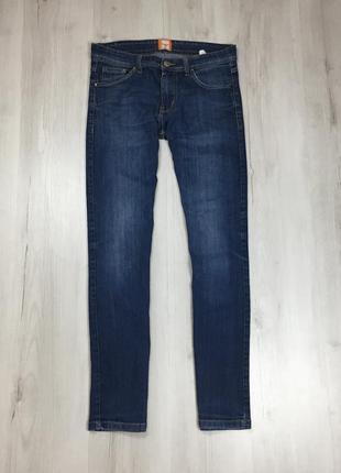 N9 джинсы зауженные синие hugo boss хуго босс хьюго бос