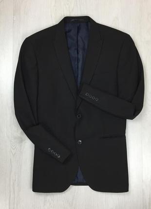 F0 пиджак приталенный черный next костюм некст смокинг