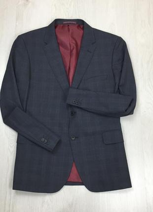 F0 пиджак приталенный темно-серый клетчатый t&w костюм серый с...