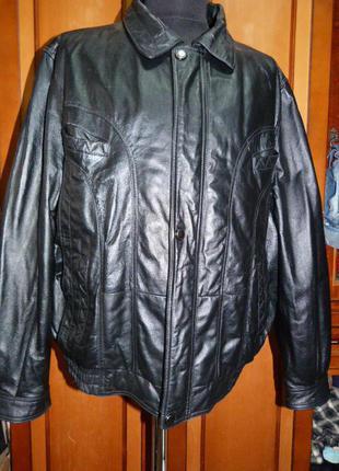 Куртка кожаная деми Brooker 3XL