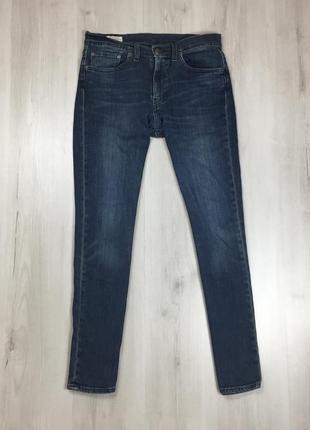N9 джинсы зауженные темно-синие levis 511 левис левайс синие ш...