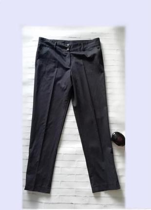 Женские легкие брюки темно-синего цвета