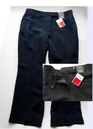 Женские брюки темно-синего цвета - 16 р.