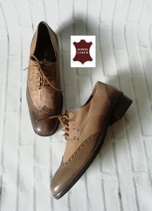 Броги, туфли на шнурках из натуральной кожи-люкс. италия - lar...