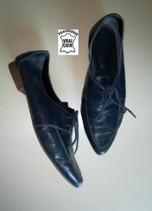 """Броги, кожаные туфли на шнурках премиум-класса, стиль - """"мятые..."""