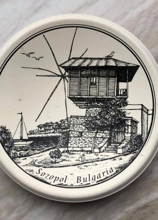 Тарелка сувенирная Болгария, Созополь, 11 см