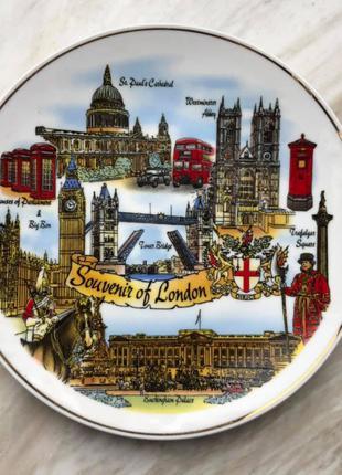 Тарелка сувенирная Англия, Лондон, 15 см