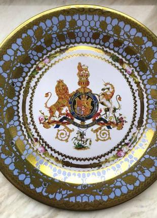 Тарелка сувенирная металлическая Англия, 26 см