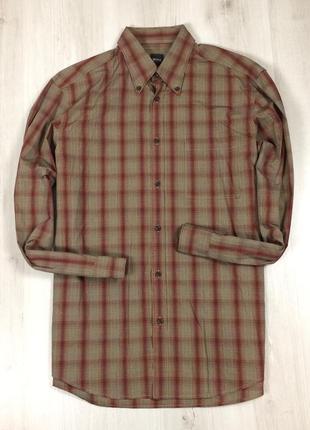 Z7 приталенная рубашка hugo boss хуго босс клетчатая в клетку
