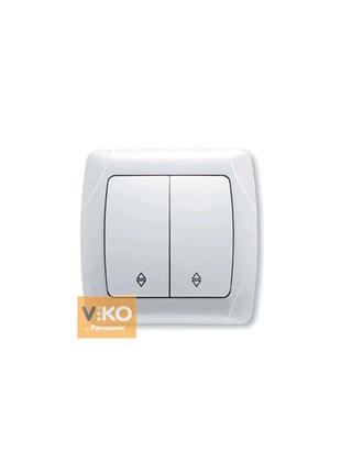 Выключатель 2-кл. проходной белый ViKO Carmen