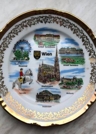 Тарелка сувенирная Австрия, Вена, 17 см