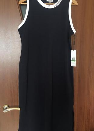 Хлопковое платье calvin klein