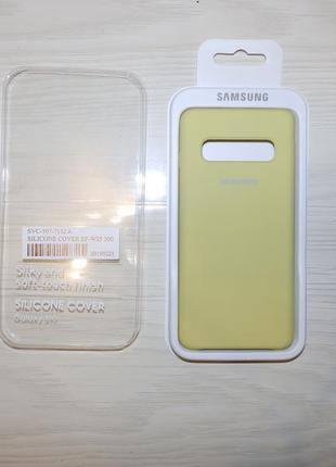 Чехол silicone cover samsung galaxy s10 yellow
