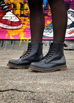 😍dr martens 1460 black😍демисезонные кожаные ботинки женские/му...