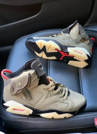 Nike air jordan 6 retro travis scott 🆕шикарные кроссовки найк🆕...
