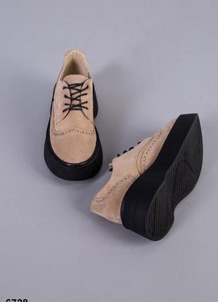 Туфли замшевые на платформе ***акция до 31.05