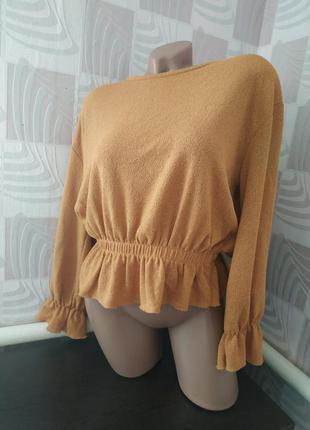 Блуза от zara с обьемными рукавами