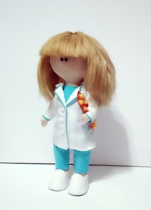 Лялька (кукла) фармацевт (текстильна, тільда)