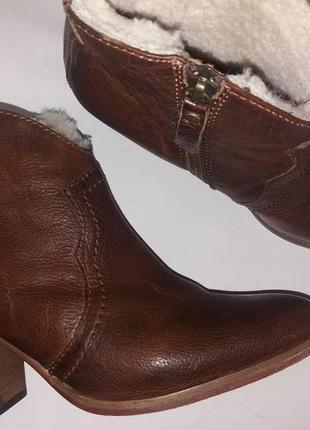 Jigsaw ботинки казаки женские рыжие р.38 англия
