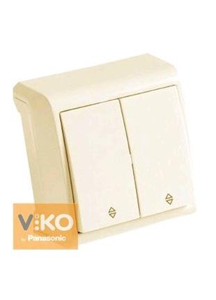 Выключатель 2-кл. крем проходной ViKO Vera