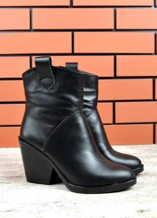Натуральная кожа эксклюзивные осенние кожаные ботинки козаки к...