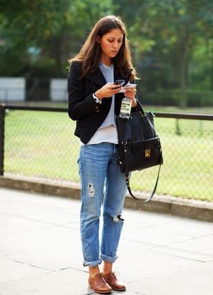 Черный пиджак блейзер жакет коттоновый базовый укороченный  с ...