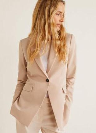 Базовый пиджак жакет блейзер  приталенный классический в офис,...