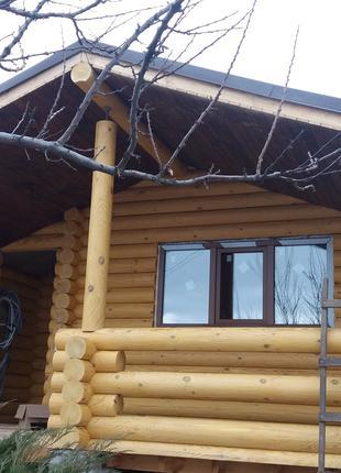 Строительство, Шлифовка, Покраска, Герметизация деревянного дома