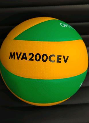 Мяч волейбольный Клееный Mikasa MVA-200CEV м'ячі волейбольні