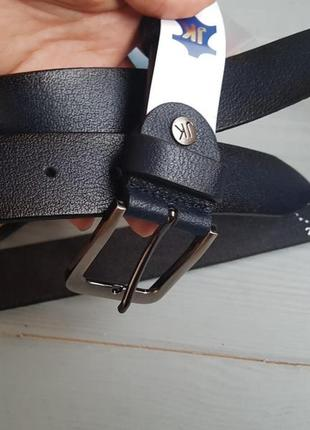Мужской фактурный ремень пояс из натуральной итальянской кожи