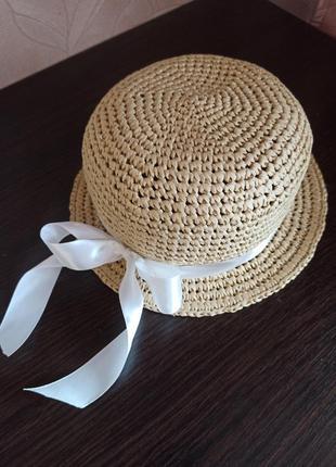 Шляпа соломенная рафия детская