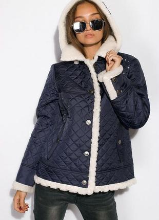 Куртка женская с меховой оборкой 127p001