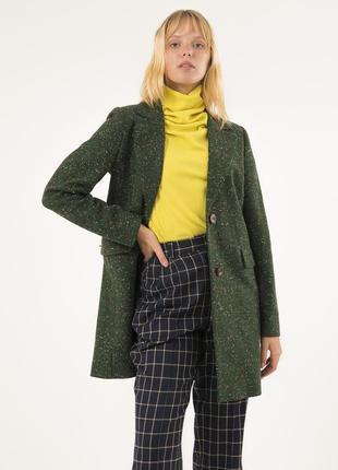 Облегченное пальто season цвета изумруд