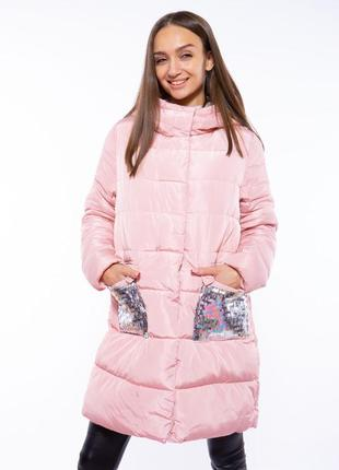 Теплая женская куртка с пайетками 120pskl5055