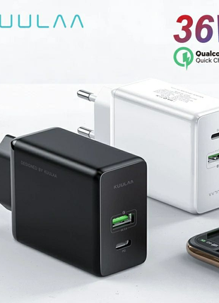 KUULAA Quick Charge 3,0, 36 Вт USB/PD