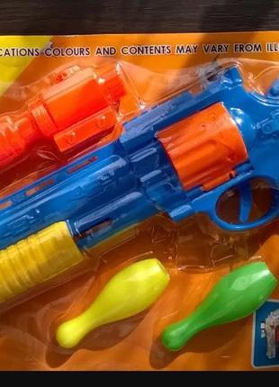 Пистолет с мишенью и пулями детское оружие набор пістолет